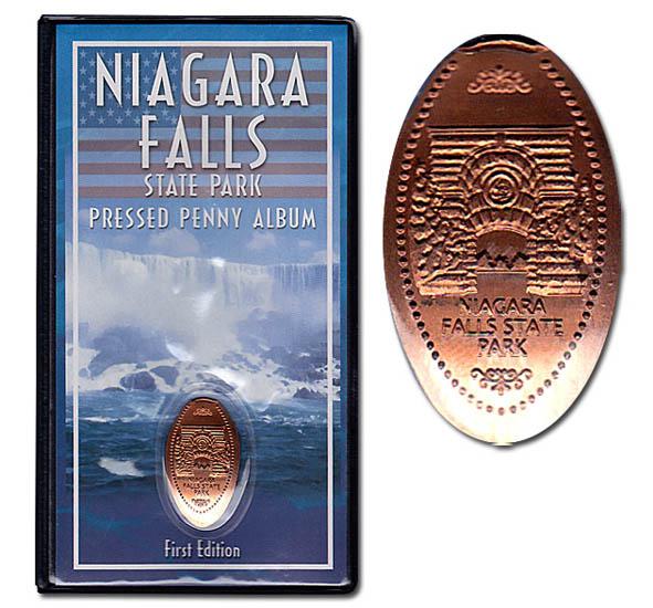 Elongated Pressed Penny Souvenir Album Book .. Niagara Falls Canada