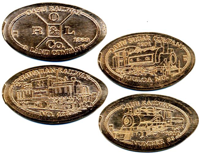 Historic Railroads of Hawaii Series V KAUAI RR HAWAII ELONGATED CENTS